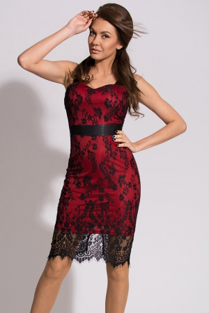 EMAMODA DRESS - RED 9910-2