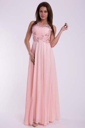 EVA & LOLA DRESS - powder pink 10011-1